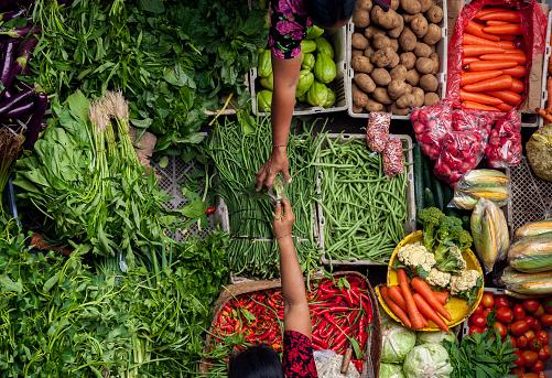 Traditional Public Market Bali Indonesia