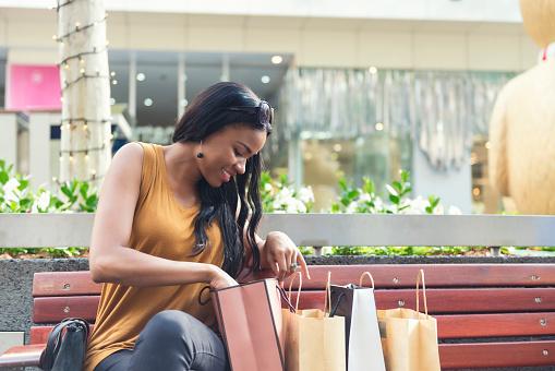 Woman shopping in Brisbane Australia
