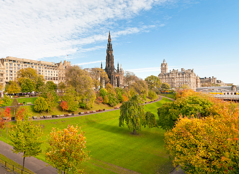 Princes Street Gardens Edinburgh Scotland
