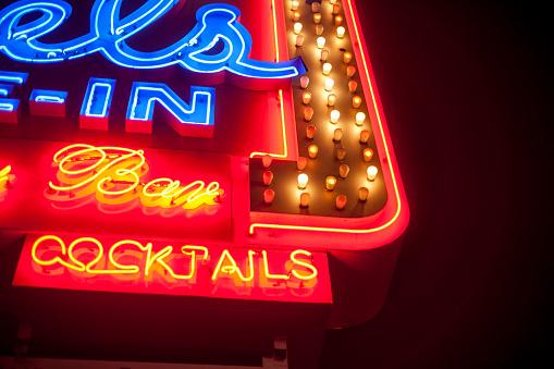 Neon bar sign Los Angeles
