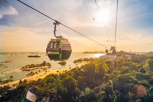 Cableway trip in Sentosa Island, Singapore