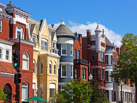 Houses in  Dupont Circle in Washington DC, USA.