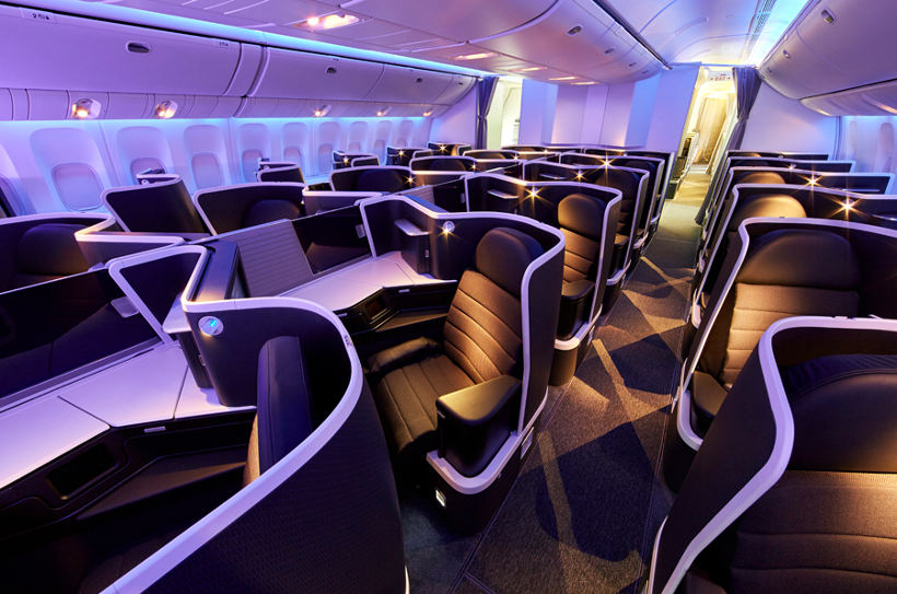 Virgin Australia business class beds offer extra leg room