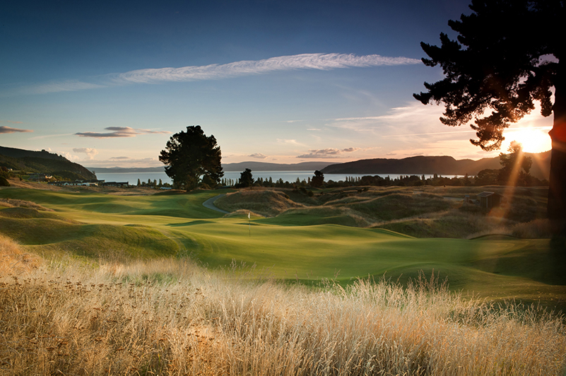 The Kinloch Club golf course on Lake Taupo, New Zealand