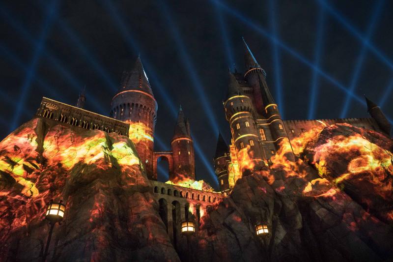 Light show at Universal Studios