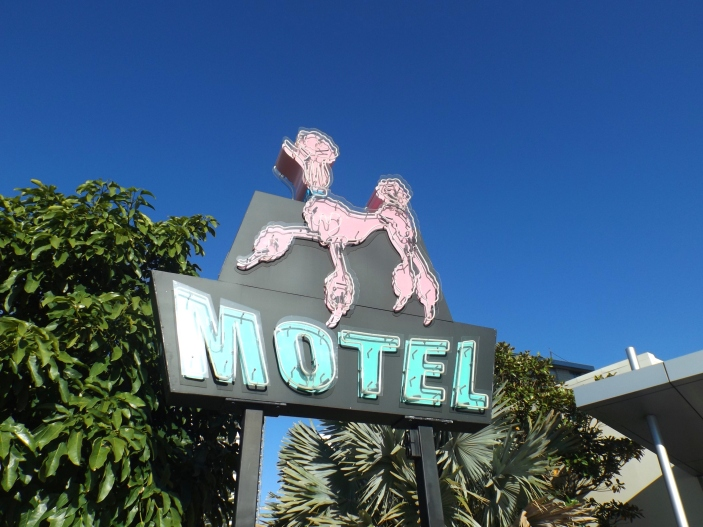 Gold Coast for Culture Vultures - Pink Poodle Sign