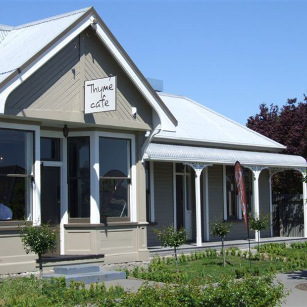 The exterior of the Thyme Cafe in Christchurch