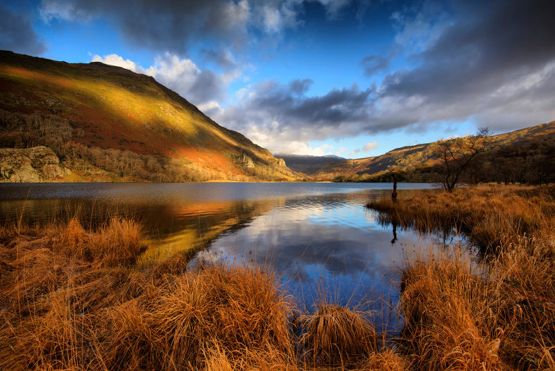 The beautiful landscape of Snowdonia in Wales.