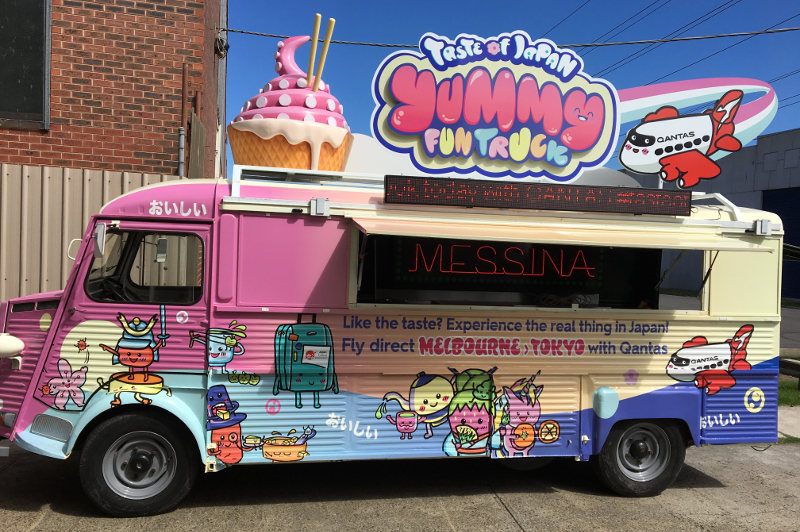 The Taste of Japan Yummy Fun Truck is part ice cream van, part game show. Image: JNTO