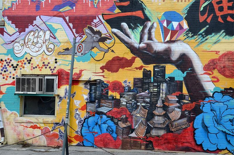 Graffiti wall street art in Toronto