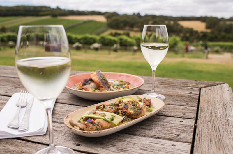 Montalto Vineyard food and wine in Victoria