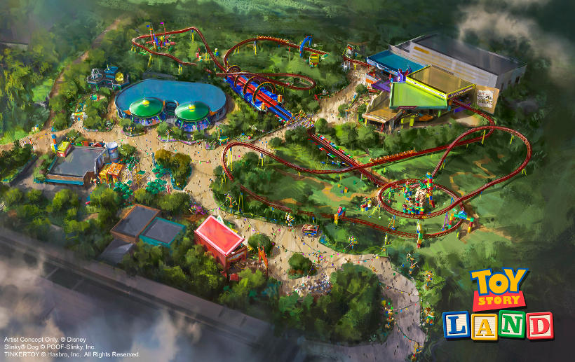 toy story land florida aerial