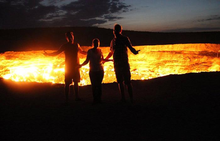Darvaza Gas Crater in Turkmenistan