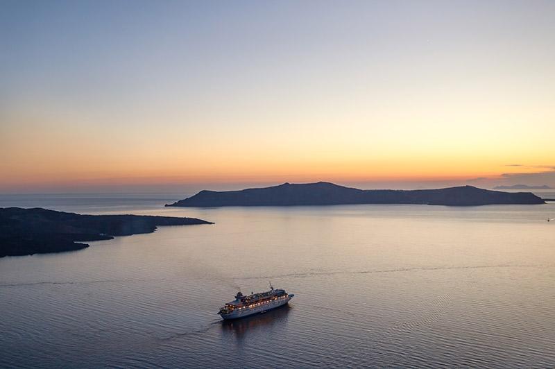 cruise ship on ocean