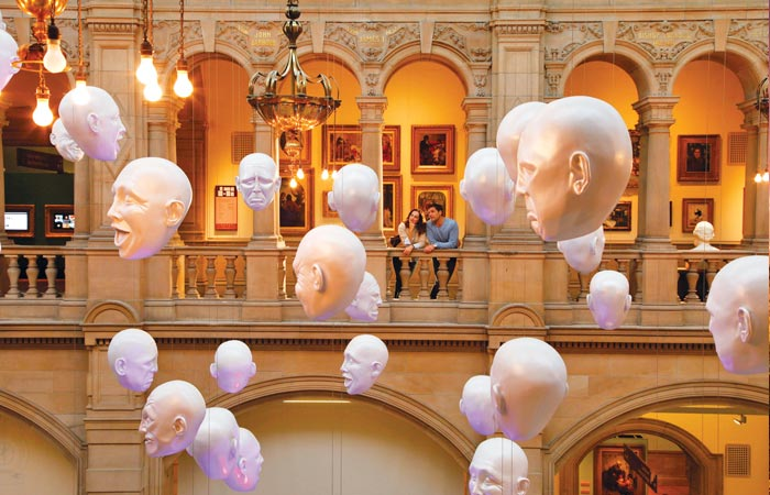 art exhibition at Kelvingrove Museum, Glasgow