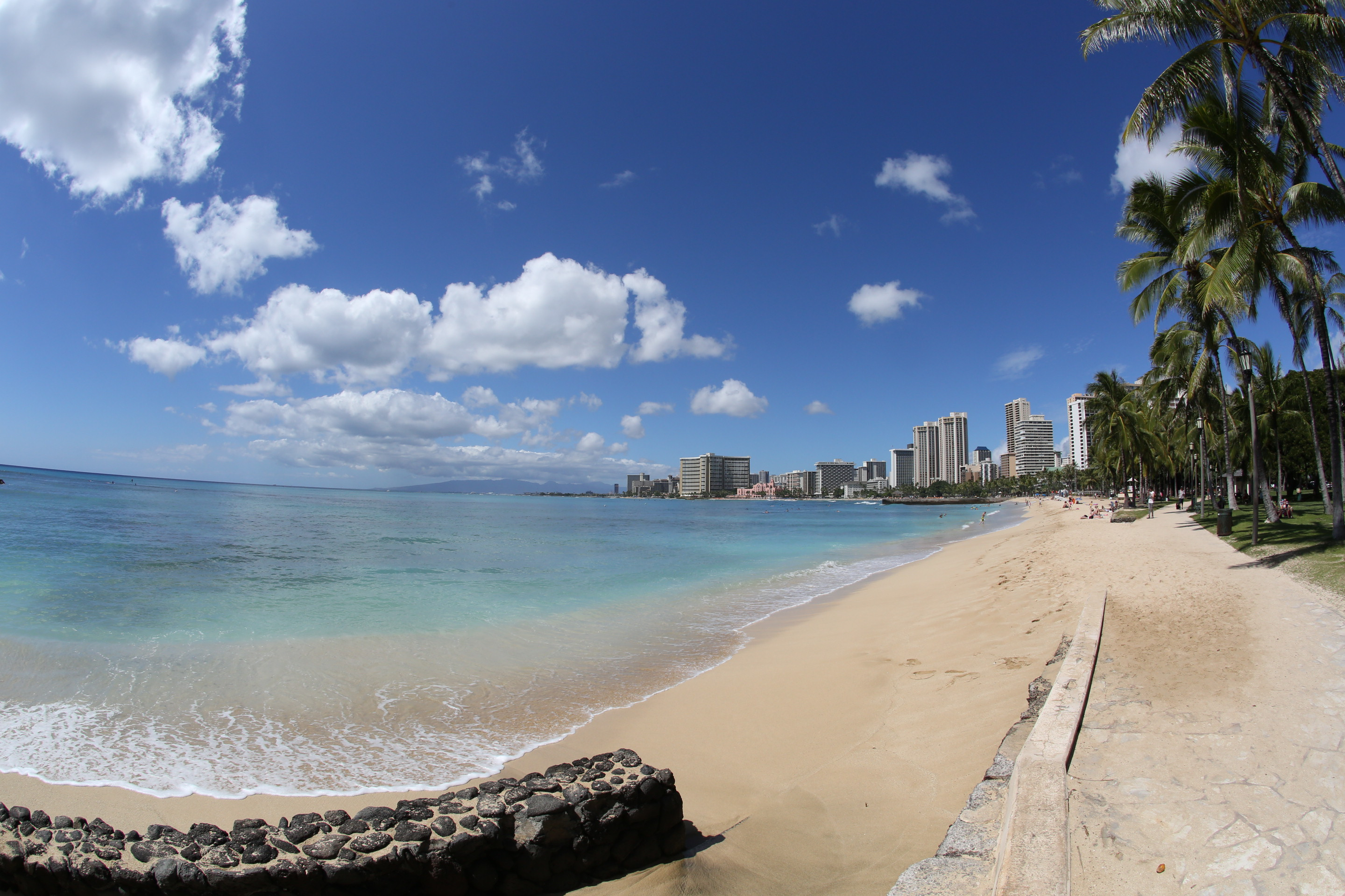 The world-famous surfing spot, Waikiki Beach, Oahu