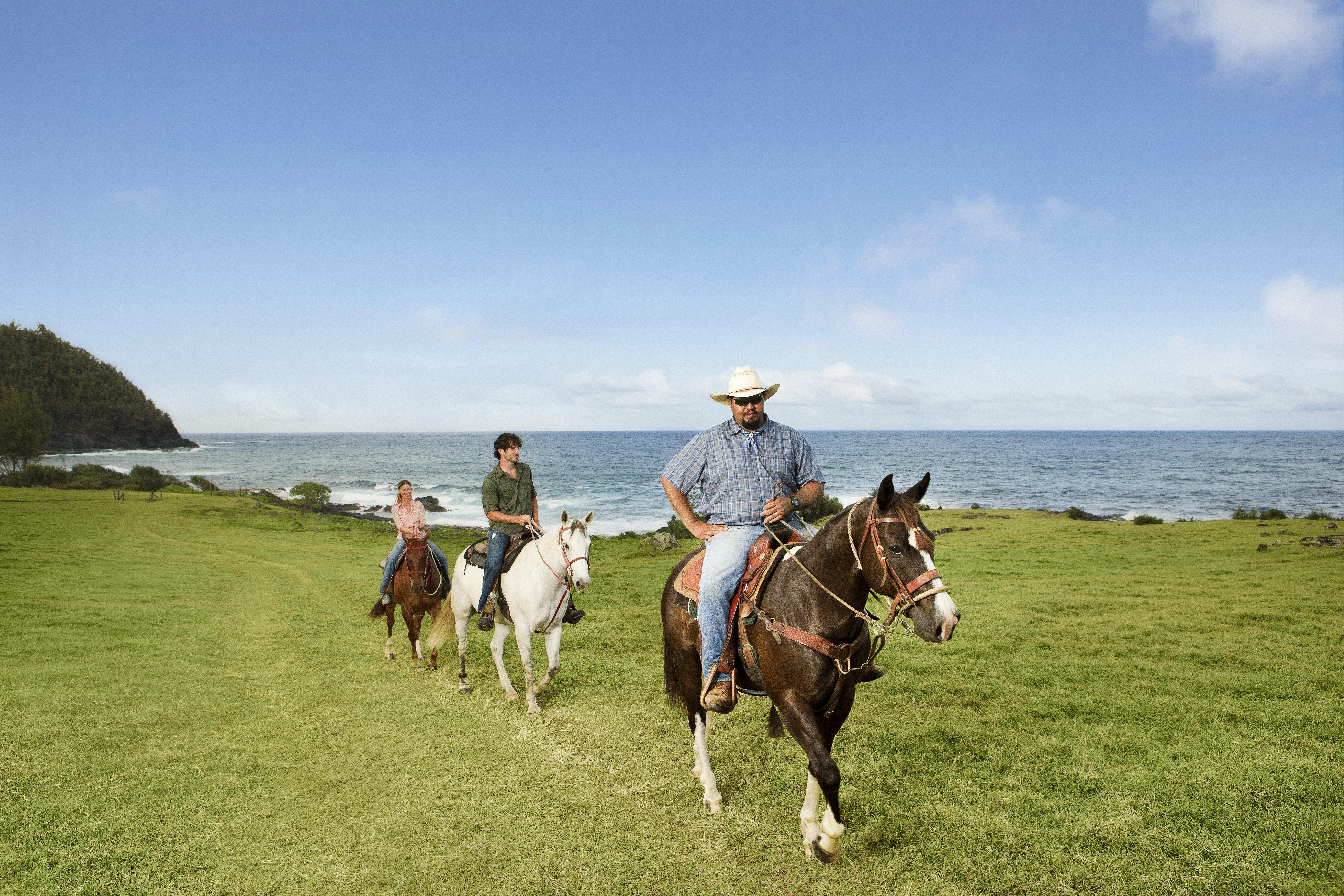 Experience horseback riding along the eastern coastline of Maui at Travaasa Hāna