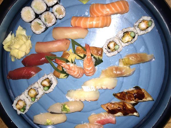 Sushi and sashimi selection at Morimoto Restaurant, Andaz Maui at Wailea