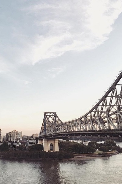 brisbane bridge sunset