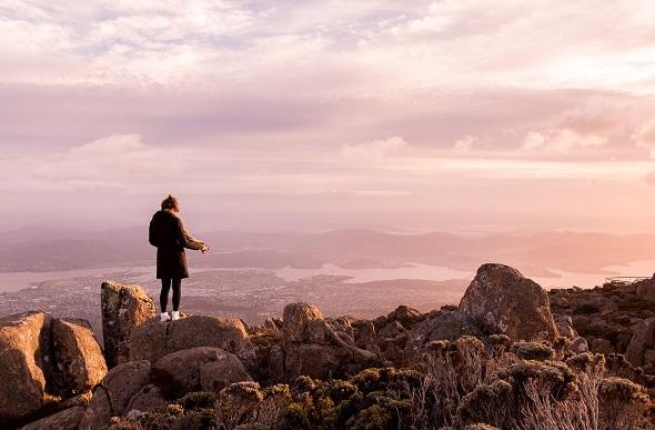 mount wellington sunrise hobart