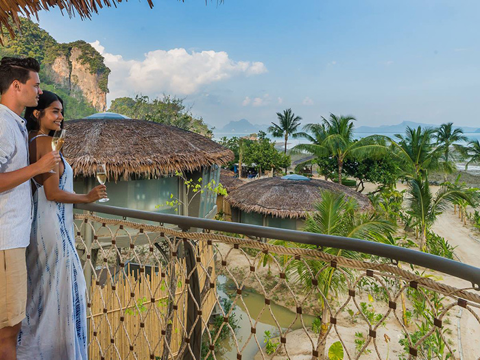 Couple at Thailand's Treehouse Villas on Koh Yao