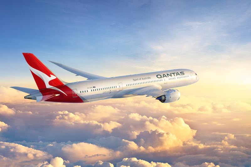 Qantas's new Dreamliner.