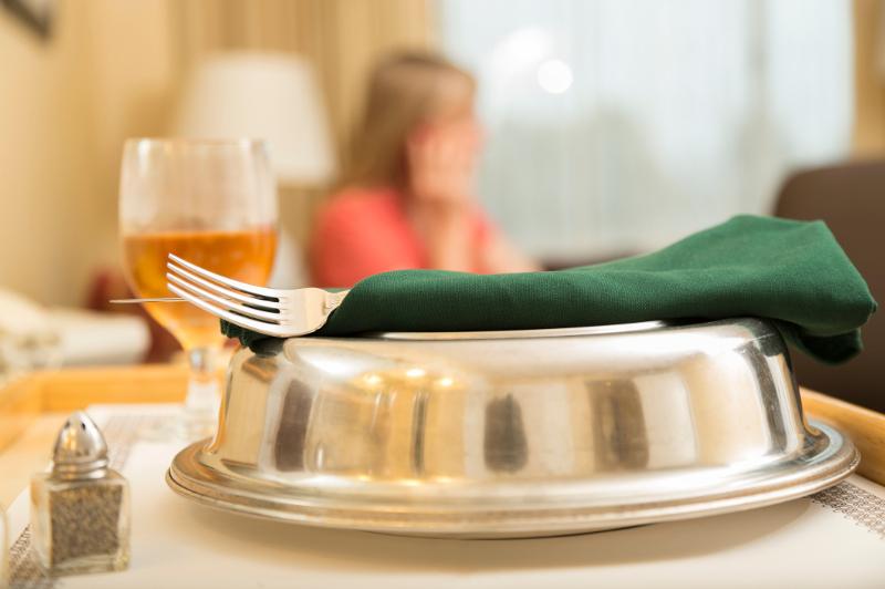 A room service tray.
