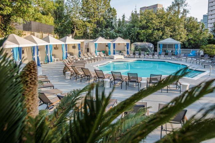 W hotel pool los angeles