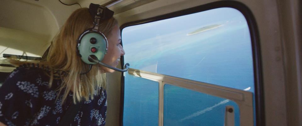 scenic flight over great barrier reef