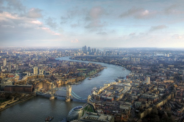 London birds eye view