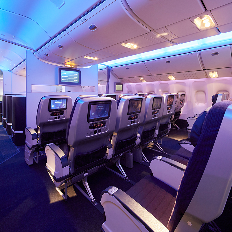 Premium Economy Cabin on Virgin Australia B777 aircraft