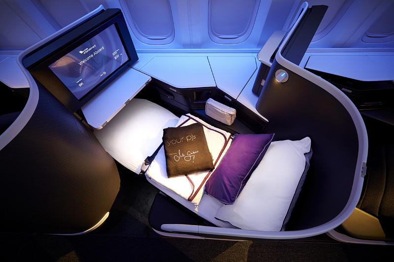 Virgin Australia's The Business class lie flat seat