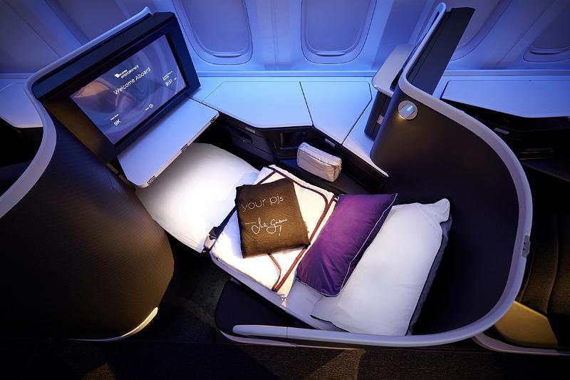 Virgin Australia's The Business class lie flat seat