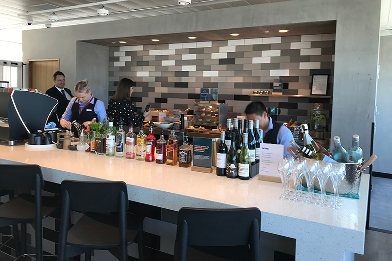 Bar at airport lounge