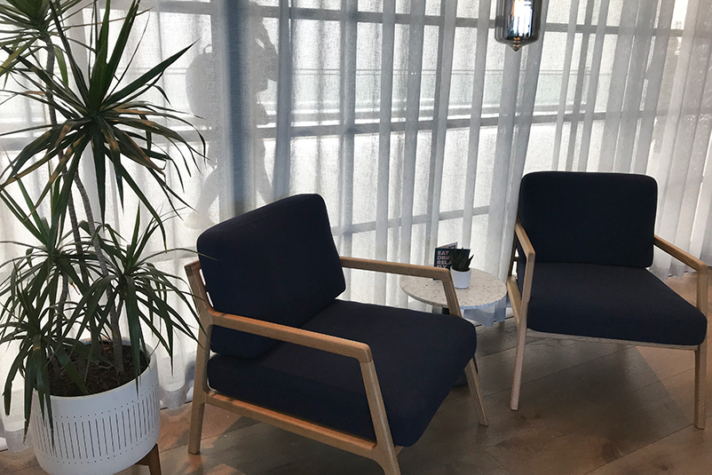 chairs in airport lounge