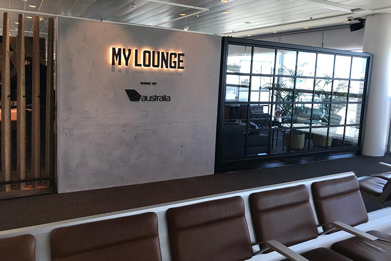 Exterior of Virgin Australia International Lounge at Brisbane Airport