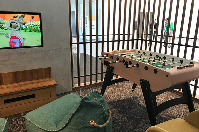 games room at airport lounge