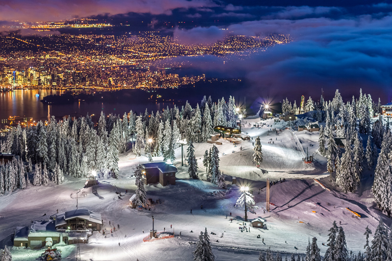 Vancouver city at night from Grouse Mountain