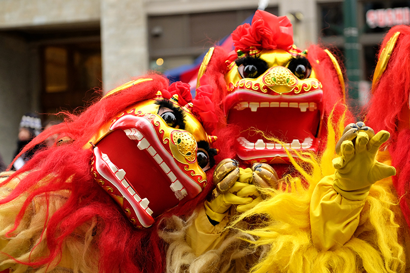 Dragons in Vancouver for Chinese New Year