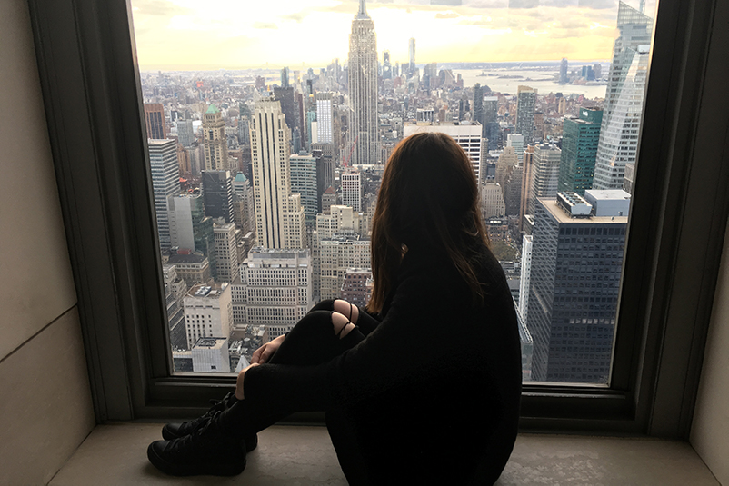 FC travel expert Vanessa Caton top of the rock NYC