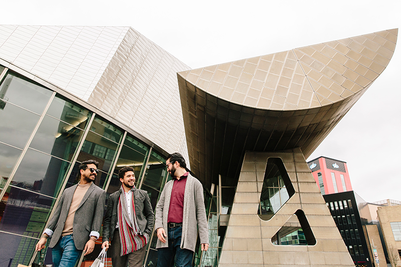 Shopping at the Lowry Centre in Salford Quays, Manchester