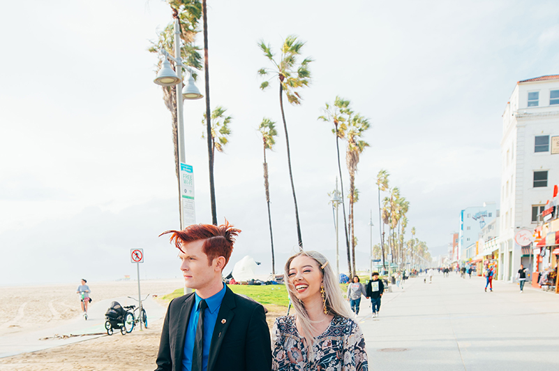 Couple in Venice Beach, LA