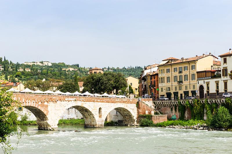 ponte pietra bridge in verona