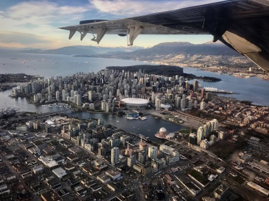 Sydney to Vancouver: Aerial view