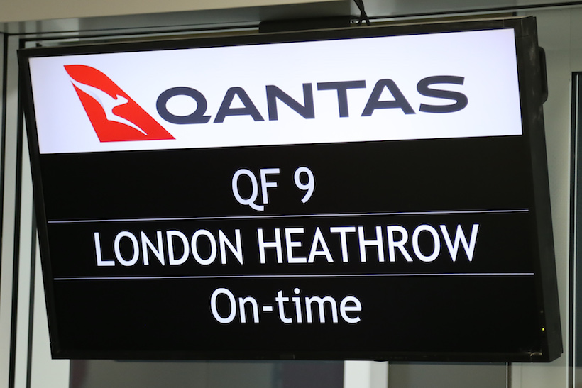QF9 Dreamliner Ready for departure. Photo: Qantas.