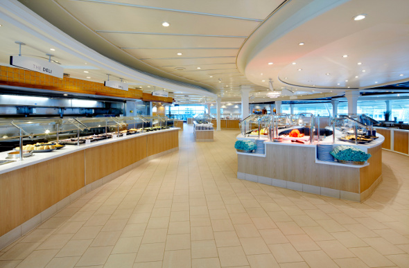 The Windjammer Cafe on board Voyager of the Seas.
