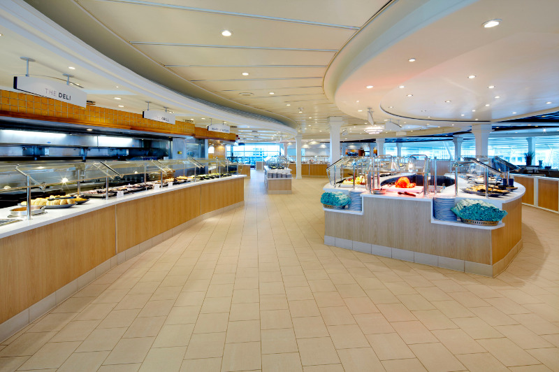 Windjammer Cafe on board Royal Caribbean's Voyager of the Seas cruise ship.
