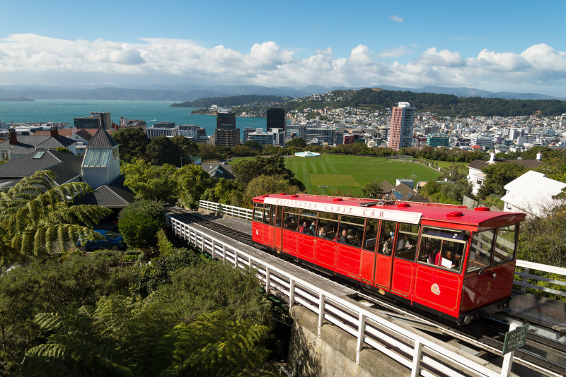 View of Wellington from the cable car
