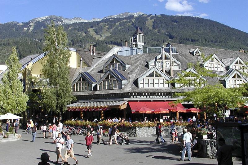 Whistler Village in summer