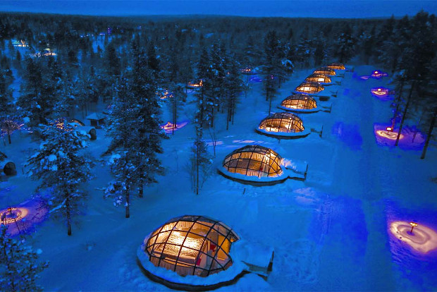 Stay in an igloo in Finland.